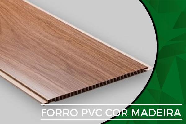 forro pvc cor madeira